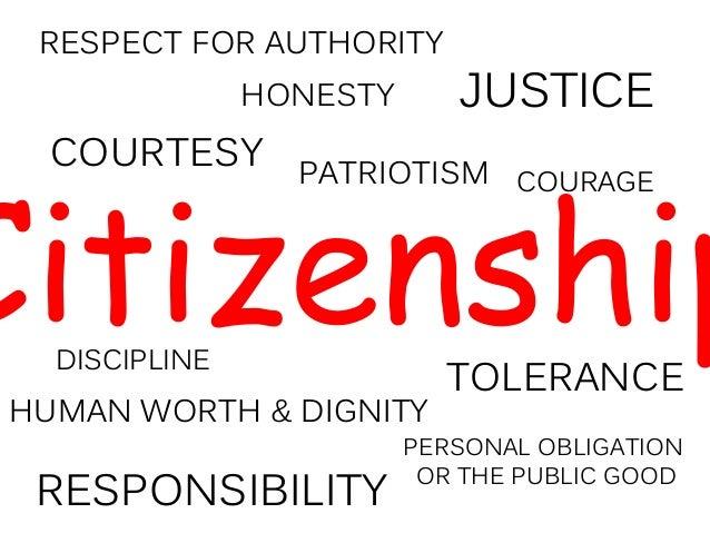 Qualities of a Good Citizen