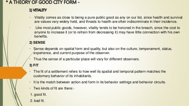 A Theory Of Good City Form