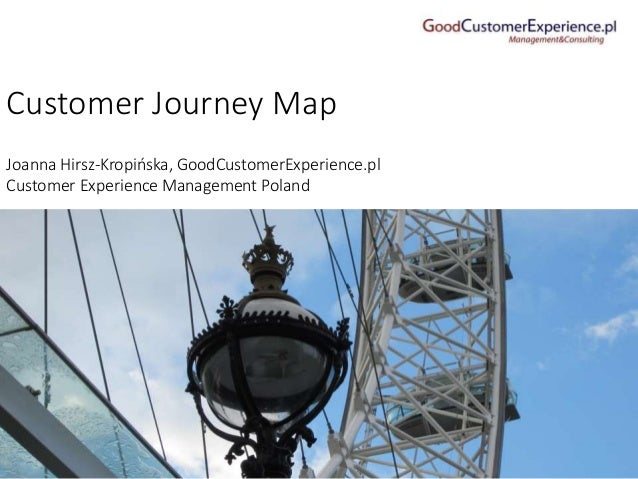 Customer Journey Map Joanna Hirsz-Kropińska, GoodCustomerExperience.pl Customer Experience Management Poland