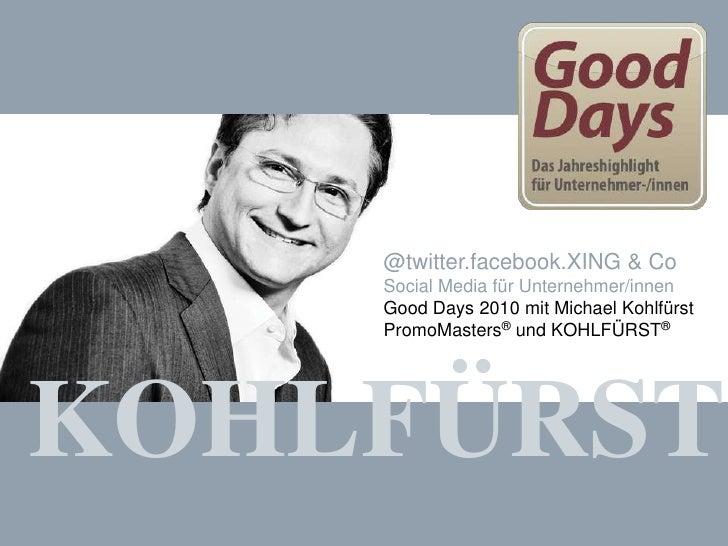 @twitter.facebook.XING & Co - Social Media für Unternehmer