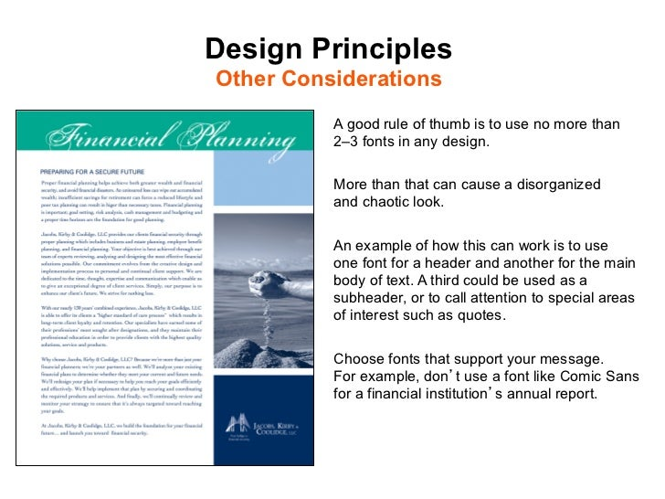 The principles of good design for Office design rules of thumb