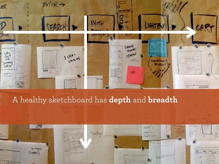 A healthy sketchboard has depth and breadth
