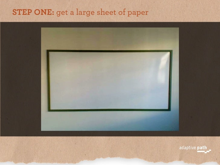 STEP ONE: get a large sheet of paper