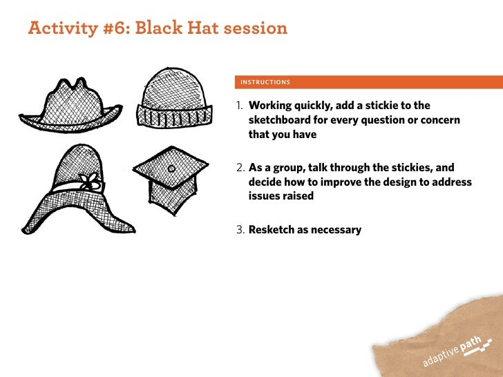 ACTIVITY ONE:  Activity #6: Black Hat session                           INSTRUCTIONS                            1. Working...