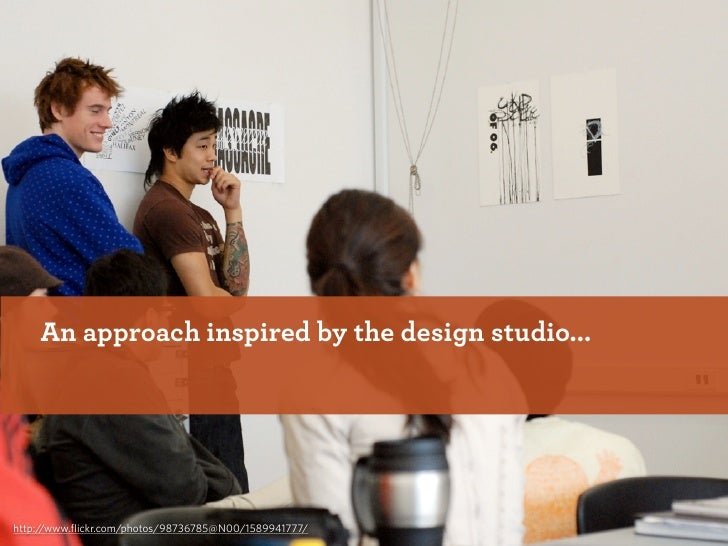 An approach inspired by the design studio...     http://www.flickr.com/photos/98736785@N00/1589941777/