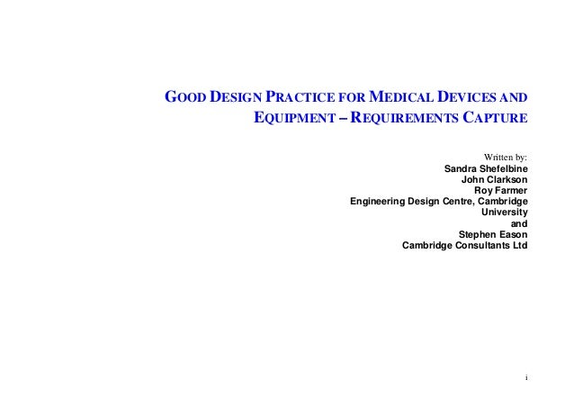 good design practice for medical devices