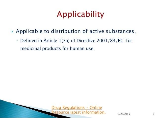 article Twenty-three 3 regarding directive 2001 83 ec