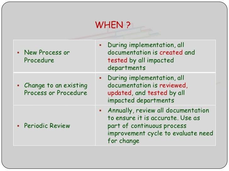 13 - Documentation Review Process