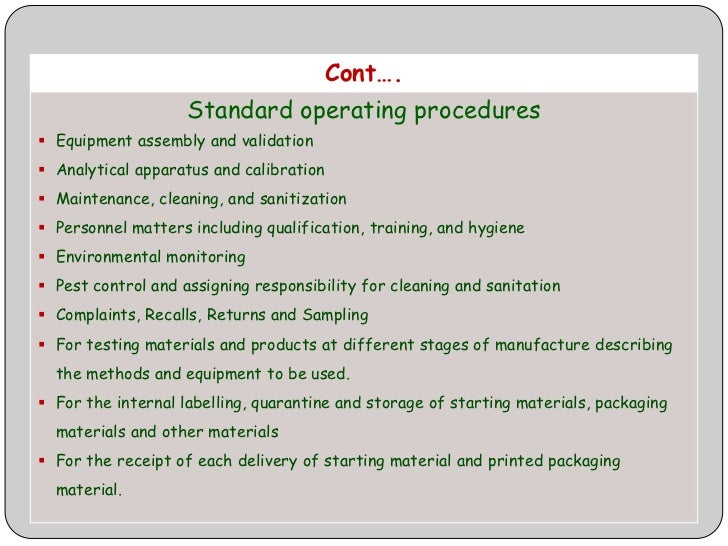 Fancy Standard Operating Procedure Template Photo - Examples ...