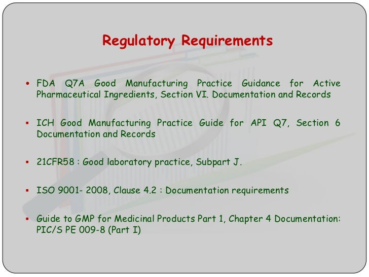 how to define a product requirments document fda