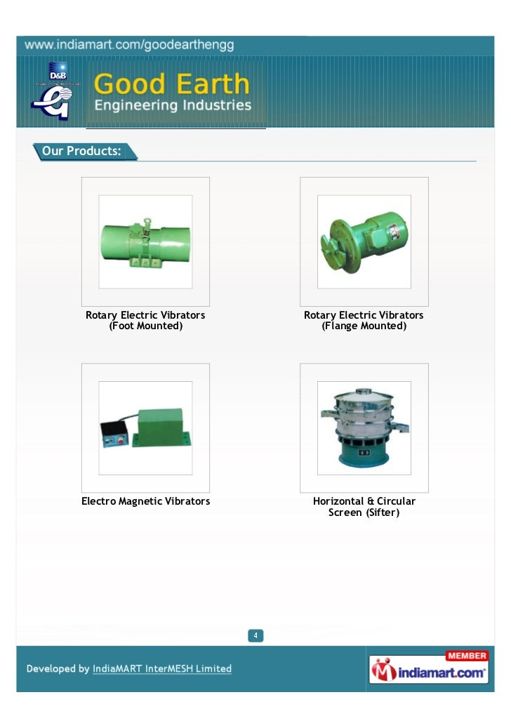 Good Earth Engineering Industries, Mumbai, Vibrators - 웹
