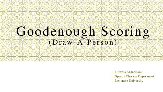 Goodenough Scoring Psychometrics