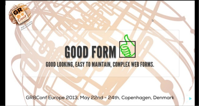 Good Form - complex web forms made Groovy