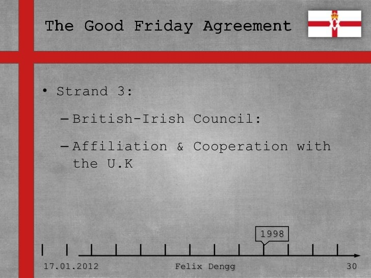 good friday agreement essay Papers - the main features of the good friday agreement.