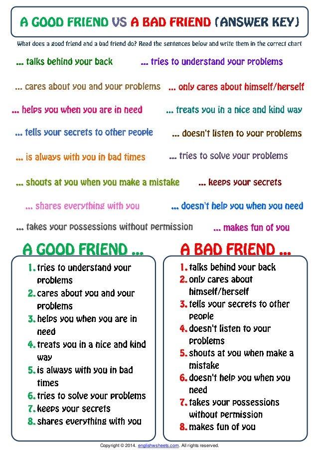 Characteristics Of A Good Friend For Kids