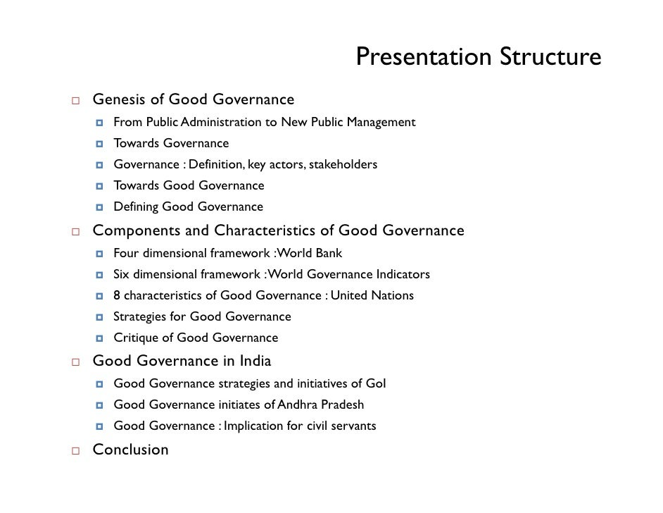 elements of good corporate governance essay