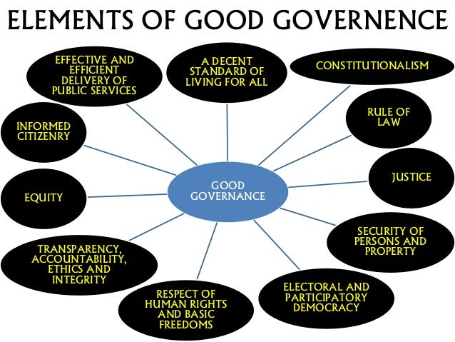 Democracy and good governance is a