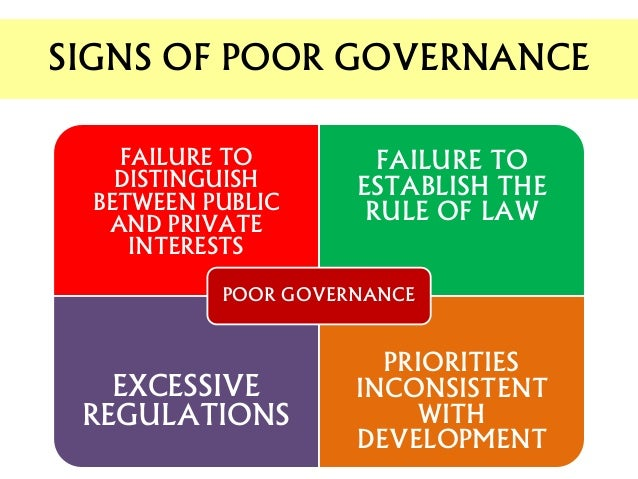 how to achieve a good governance Nowadays, the terms governance and/or good governance are widely used in   that good governance should be effective (achieve its intended purpose) and.