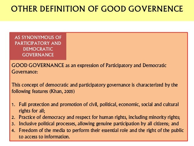 good governance and role of public Public administration reform, aiming at good governance and modernisation of the state, is a target for every nation on the globe the term good governance has been discussed in the.