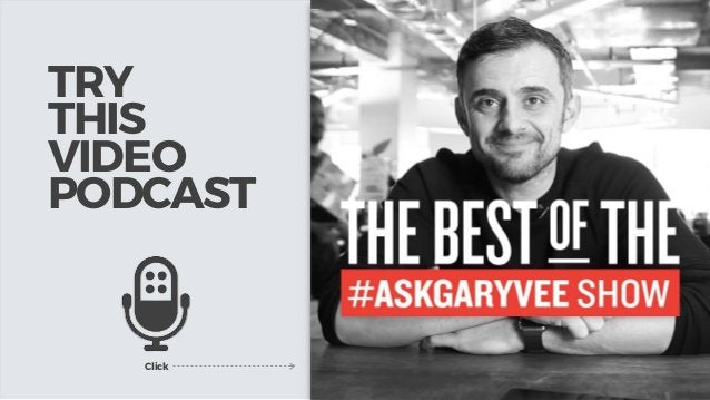 TRY THIS VIDEO PODCAST Click