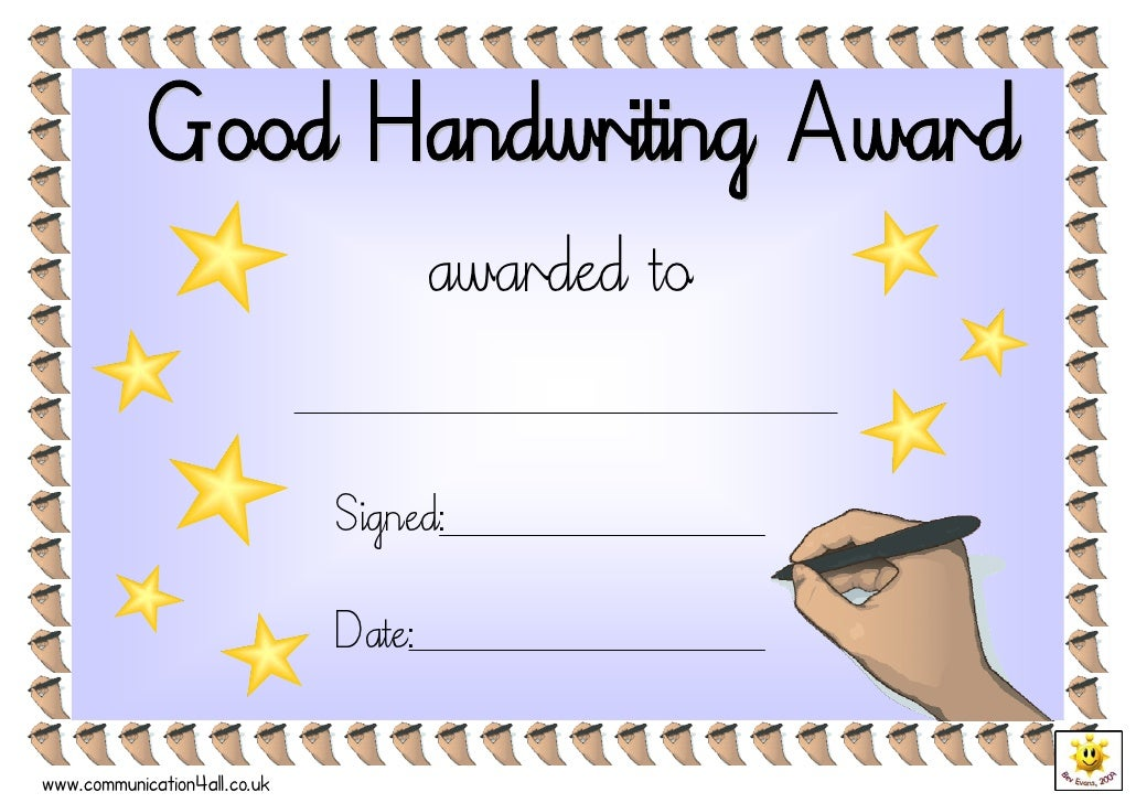 Good Handwriting Award