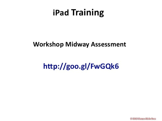 Good hope elementary school i pad training