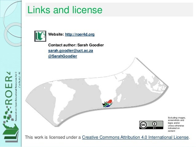 Links and license This work is licensed under a Creative Commons Attribution 4.0 International License. Website: http://ro...
