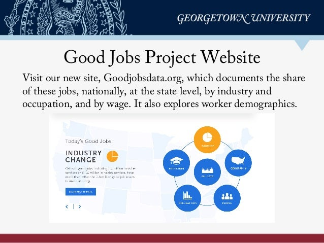 Good Jobs Project Website Visit our new site, Goodjobsdata.org, which documents the share of these jobs, nationally, at th...