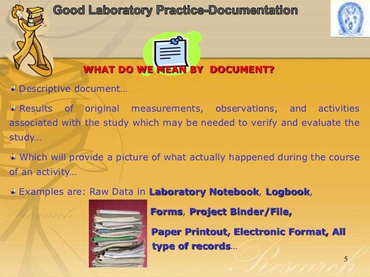 good laboratory practice documentation