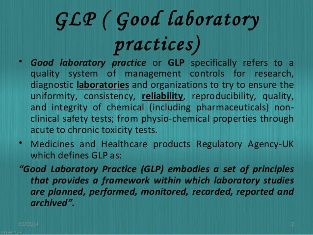 Good Laboratory Practices