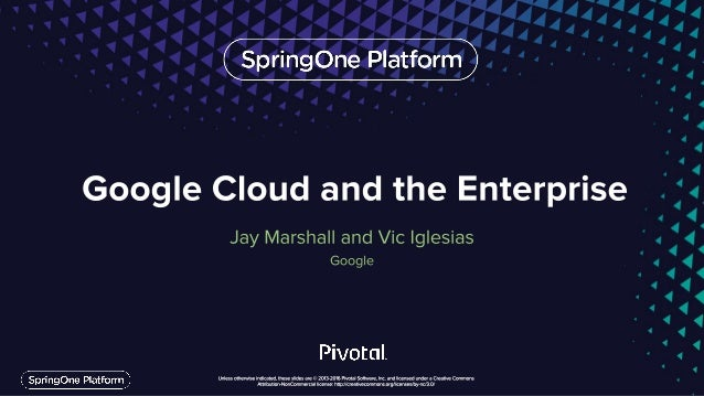 An Evolving Cloud for the Enterprise Google Cloud Platform 3 Build on Google's cloud w/ security, compliance, and hybrid f...