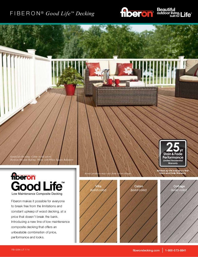 Fiberon makes it possible for everyone to break free from the limitations and constant upkeep of wood decking, at a price ...