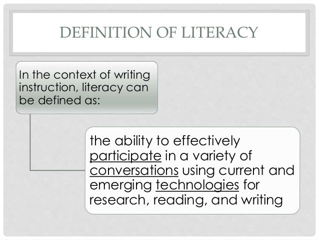 emergent literacy paper research