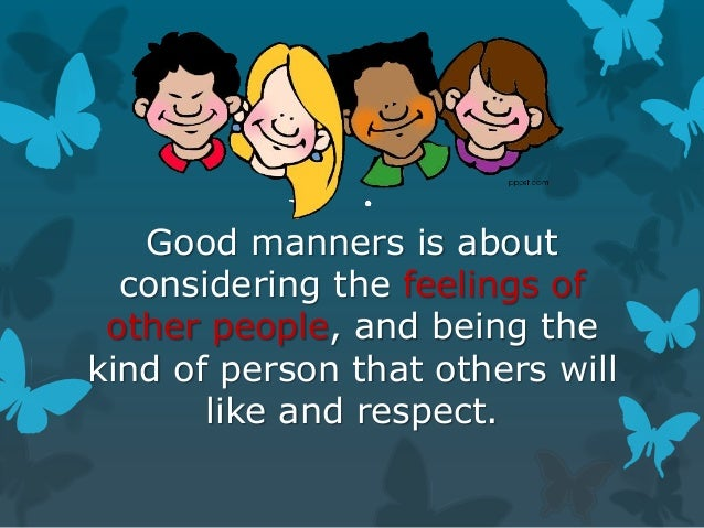 good manners good manners