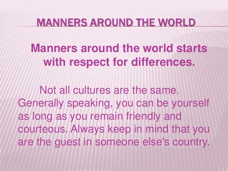 Short Essay on Good Manners: Meaning, Importance, Examples