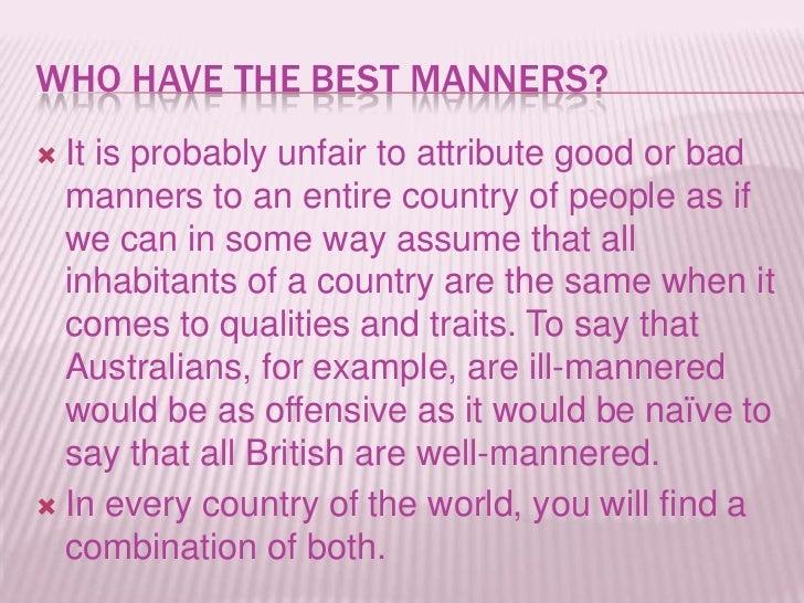 do manners matter essay