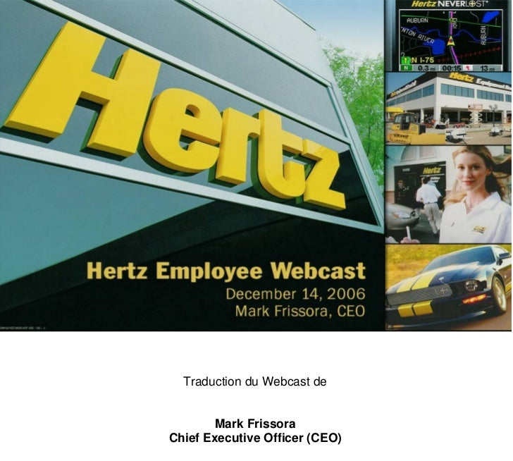 Good Morning Everyone Executive Decision : Good morning everyone and welcome to hertz vo vf