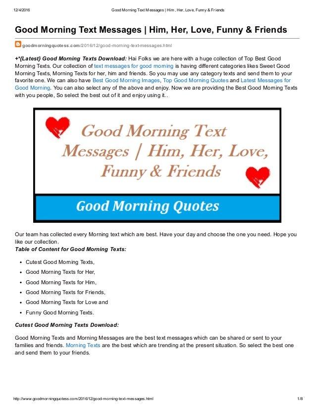 Best friend morning text