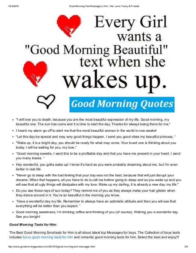 Love text message for her in the morning