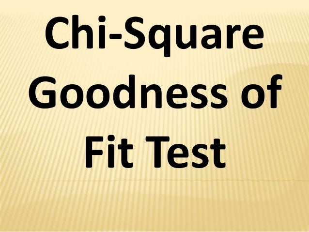 Chi-Square Goodness of Fit Test