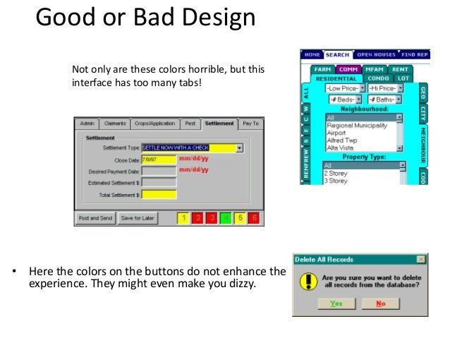 good or bad design