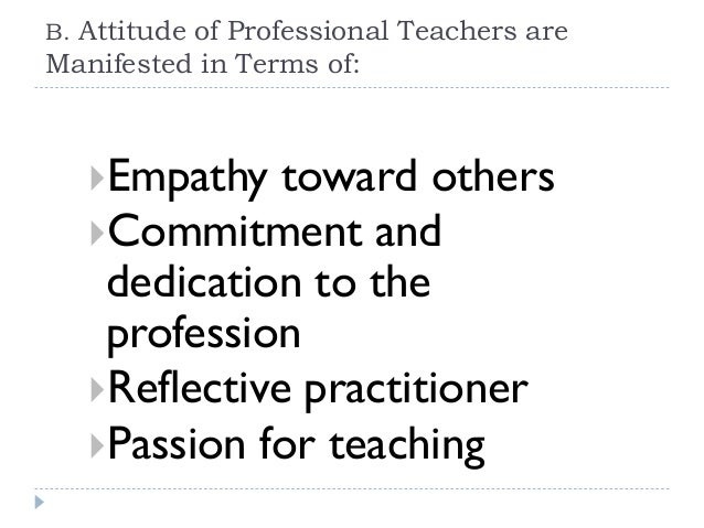 Good personal qualities of a teacher