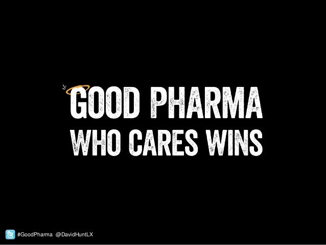 #GoodPharma @DavidHuntLX