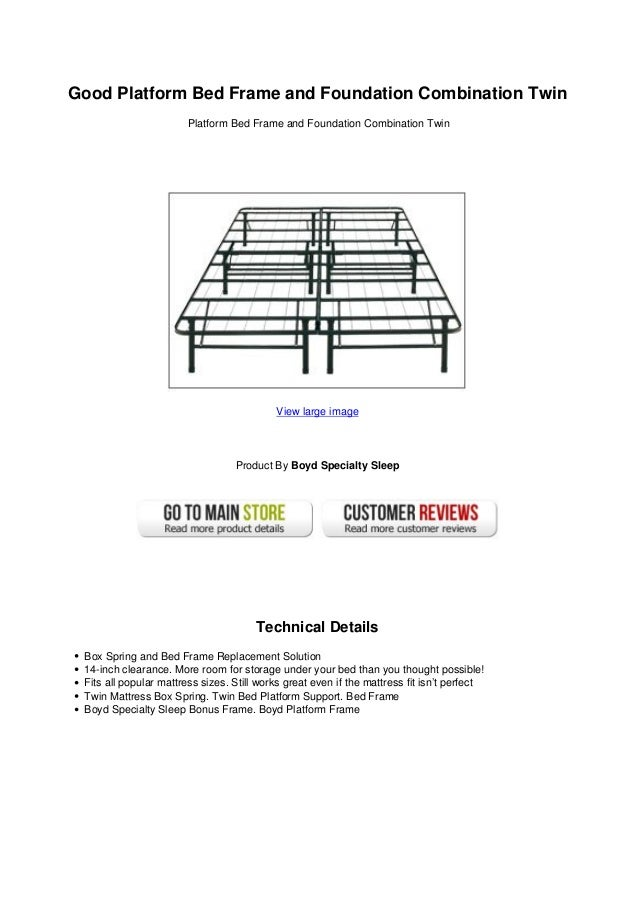 Good Platform Bed Frame And Foundation Combination Twin