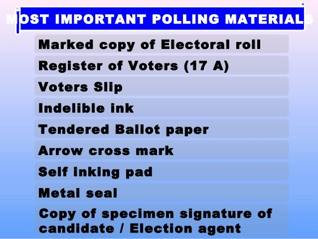 election 2014 tips for polling officers in india