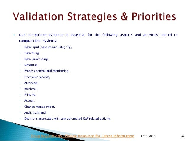 Good Practices For Computerised Systems Pic S Guidance