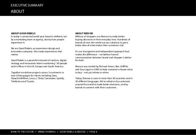 EXECUTIVE SUMMARY METHODOLOGY BANK TO THE FUTURE // #REBELTHINKING // GOOD REBELS & REEVOO // PAGE 9 QUAL QUANT OFFLINE ON...
