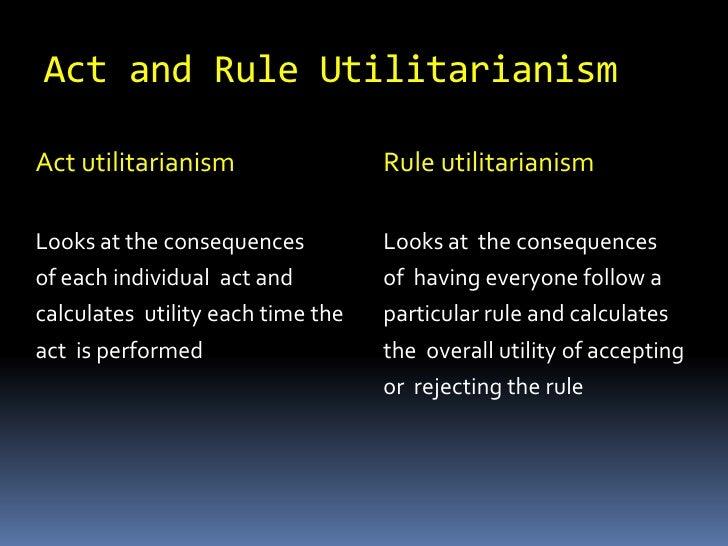 Good Recap And Rule Utilitarianism