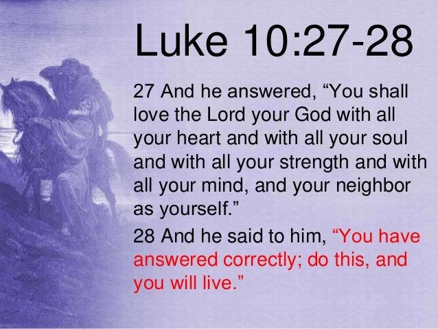 Luke 10:27 - Daily Life Verse