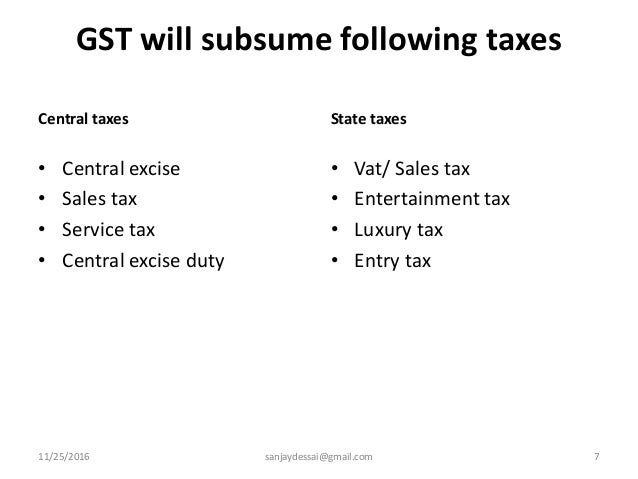 Goods and services tax in the indian context
